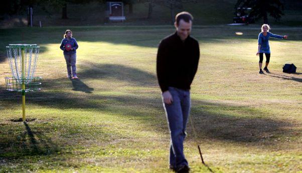 Disc golf and ball golf