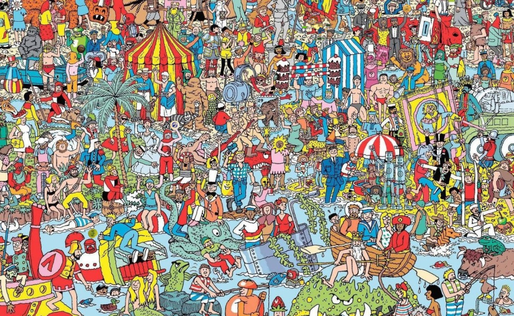 Where is waldo cover art Second Option D2