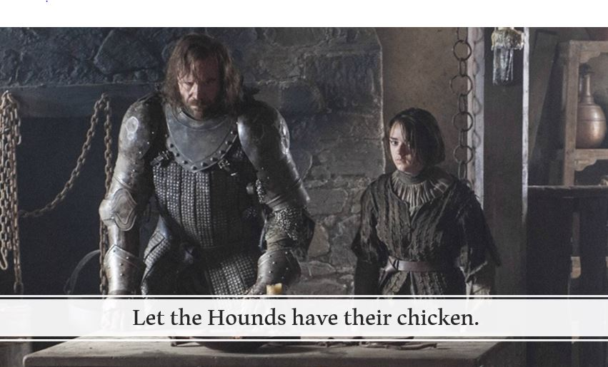 Let the Hounds have their chicken