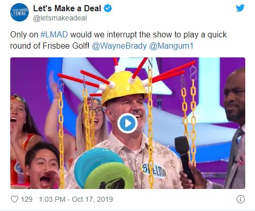 Man dresses as dg basket on Lets make a deal